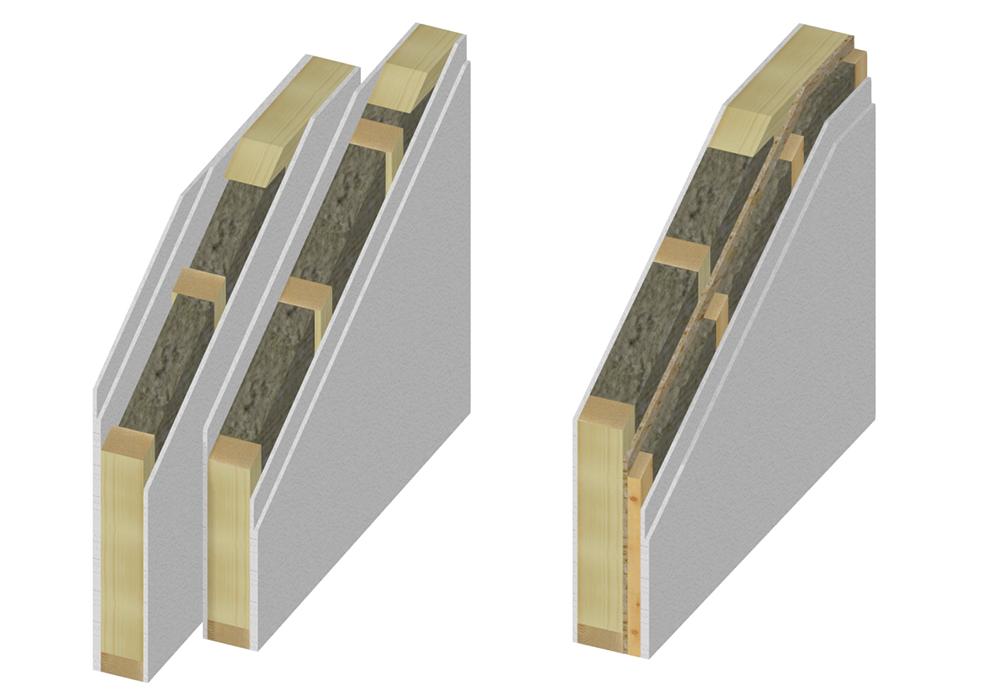 Particolari costruttivi - Parete interna in legno ...